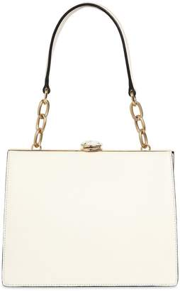 Miu Miu Solitaire Frame Leather Top Handle Bag