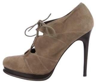 Diane von Furstenberg Suede Lace-Up Booties