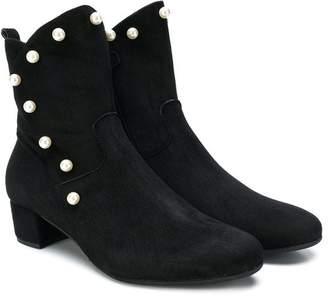 MonnaLisa pearl embellished boots