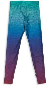 Terez Little Girl's& Girl's Heathered Rainbow-Printed Leggings