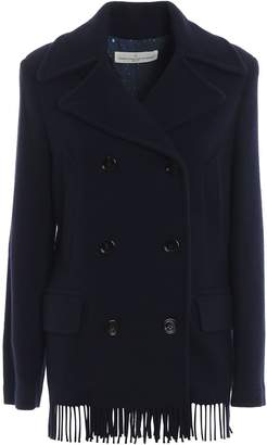 Golden Goose Fringed Double Breasted Pea Coat