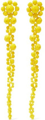 Ben-Amun Beaded Silver-Tone Earrings