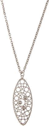 """Roberto Coin Bollicine 18k White Gold Pendant Necklace w/ Diamonds, 18""""L"""