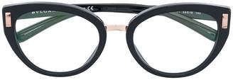 Bulgari side stud oval glasses
