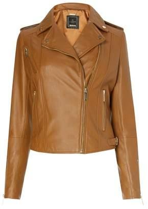 Next Lipsy Biker Leather Jacket - 6