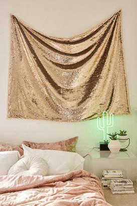 Gold Reversible Sequin Tapestry