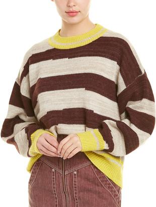 Isabel Marant Etoile Glowy Striped Alpaca-Wool Sweater
