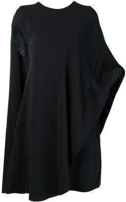 Calvin Klein draped asymmetric dress