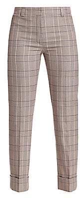 Akris Women's Maxima Plaid Wool Cropped Pants