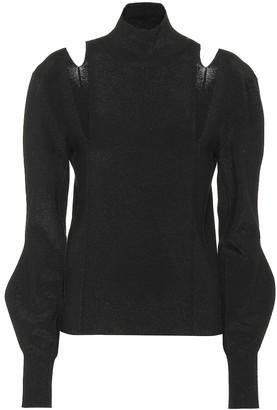 Chloé Cut-out wool-blend sweater