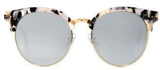 Women's Gentle Monster Moon Cut 55Mm Sunglasses - Ivory/charcoal $274 thestylecure.com