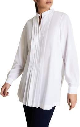 Marina Rinaldi Fauve Pleated Shirt
