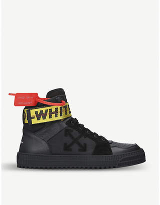 Off-White Industrial belt high top leather trainers