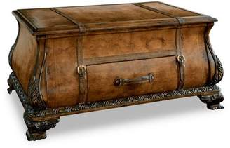 Butler Specialty Company Butler Vasco Old World Map Bombe Trunk Table