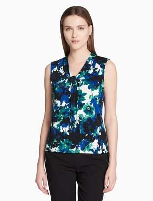 Calvin Klein drape knot sleeveless top