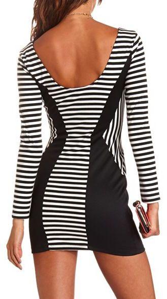 Charlotte Russe Striped Body-Con Dress