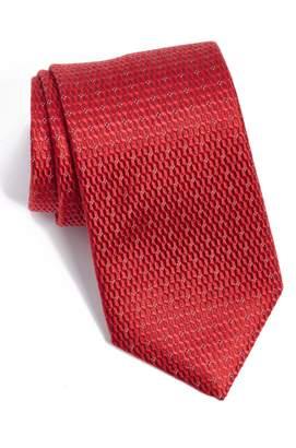 David Donahue Geometric Silk Tie