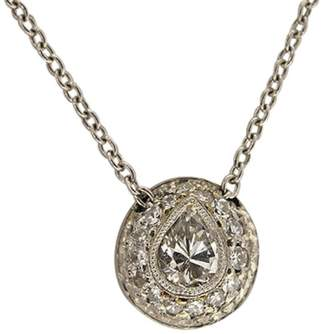 Platinum 0.43ct Pear Diamond Pendant