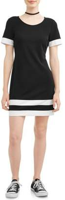 Paperdoll Paper Doll Juniors' Solid Techno Crepe Dress