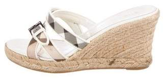Burberry Nova Check Wedge Sandals