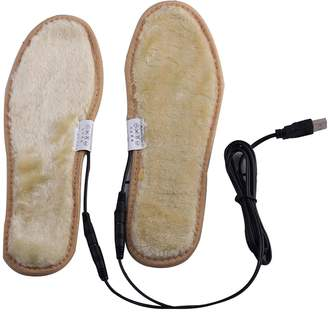 Uniqstore USB Charging Electric Heated Insoles Pad Shoes Boots Heater Keep Feet Warm 38-39