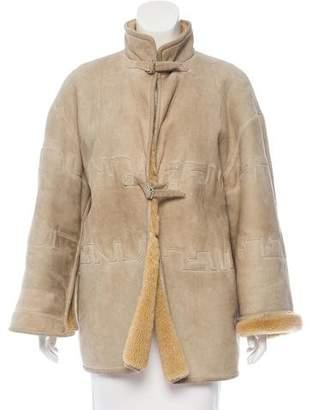 Fendi Suede Shearling Coat