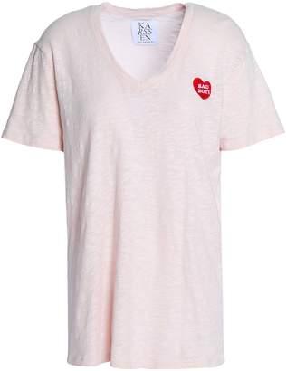 Zoe Karssen 刺繍入り コットンジャージー Tシャツ
