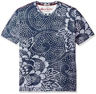 Robert Graham Men's Batik Short Sleeve Knit Graphic T-Shirt