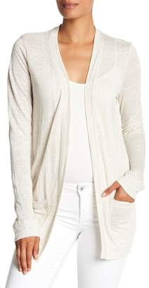 Three Dots Linen Jersey Easy Cardigan