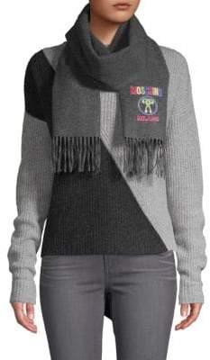 Moschino Logo Wool Scarf