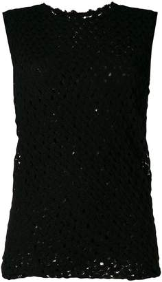Jil Sander ruched sleeveless knit top