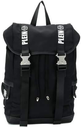 f5e02886ea Philipp Plein Junior logo print straps backpack