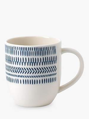 Royal Doulton ED Ellen DeGeneres for Chevron Mug, Cobalt, 400ml