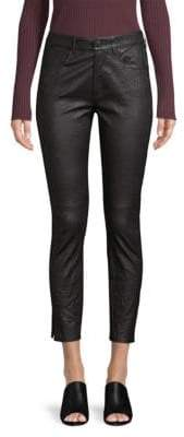 3x1 Leather Skinny Jeans