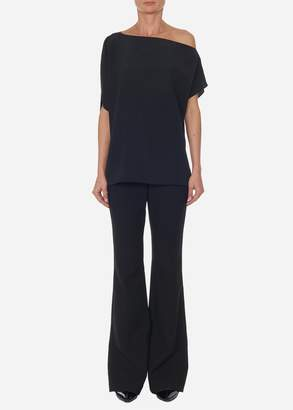 Tibi Silk Off-the-Shoulder Top