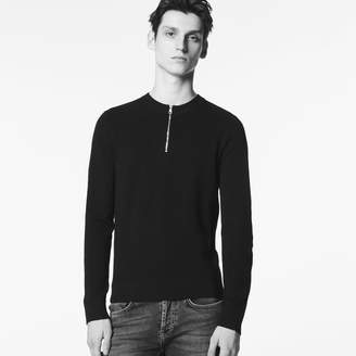 Sandro Round neck sweater with zip