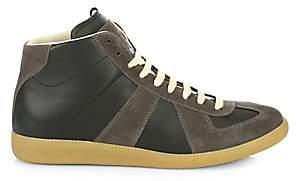 Maison Margiela Men's Replica Leather High-Top Sneakers