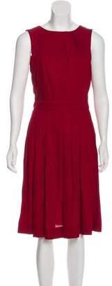 L'Agence Sleeveless Pleated Dress