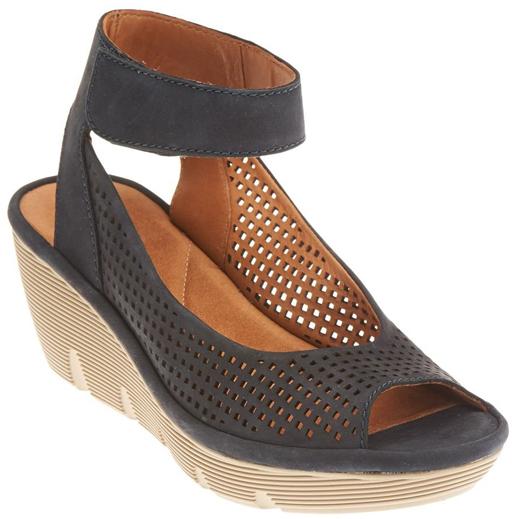 ClarksNavy Clarene Prima Nubuck Sandal