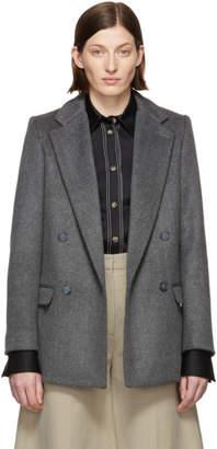 Stella McCartney Grey Double-Faced Wool Blazer