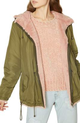 Sanctuary Snug Faux Fur Reversible Parka