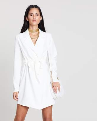 Missguided Belted Trench Blazer Dress