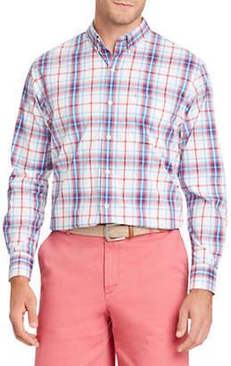 Izod Premium Essential Plaid Cotton Sport Shirt