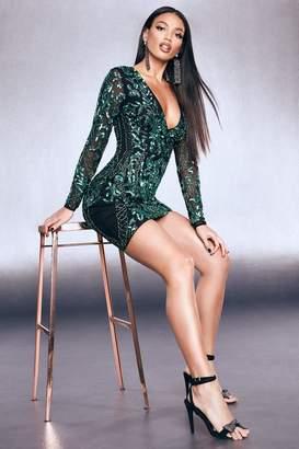 boohoo Premium Embellished Sleeveless Bodycon Dress