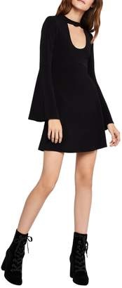 BCBGeneration Bell-Sleeve Cut-Out Dress