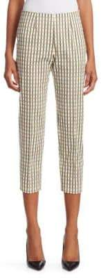 Piazza Sempione Audrey Side-Zip Check Pants