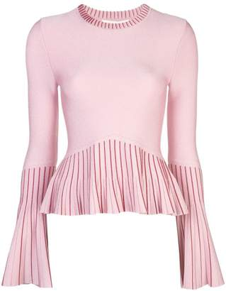 Jonathan Simkhai metallic knit pleated sweater