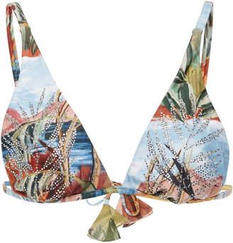 Agua de Coco Embellished Bikini Top