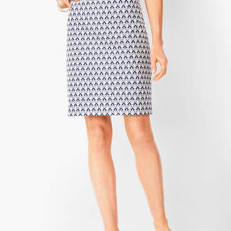 Talbots Classic Cotton A-Line Skirt - Fan Print