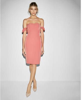 Express strapless off the shoulder midi dress
